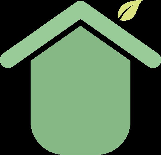 Pictogramme d'une maison éco-responsable