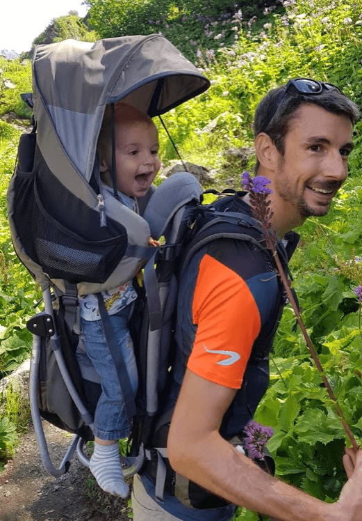porté bébé randonnée